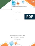 5. Unidad 1 - Fase 2 - Análisis de ambientes organizacionales de la administración
