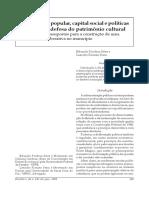 Município e Políticas Públicas de Defesa Do Patrimônio Cultural
