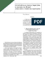 Reforma Administrativa e Mentalidade