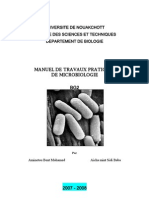 Manuel de travaux pratiques de microbiologie