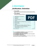 D 5 038 - Techniques De L'Ingenieur - Installations électriques - Conception. Vérification. Entretien