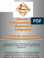 ALMACENAMIENTO DE SUSTANCIAS PELIGROSAS