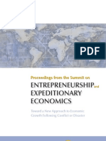 Proceedings from the Summit on Entrepreneurship and Expeditionary Economics