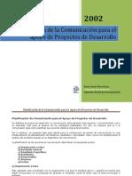 Guía de Planificación Comunicación de Apoyo a Proyectos