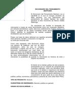 DICCIONARIO DEL PENSAMIENTO MARTIANO