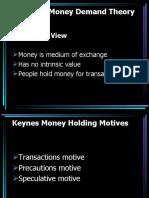 Keynesian Money Demand