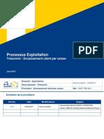 Processus Exploitation Trésorerie - Encaissement client par caisse