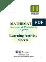 Statistics & Probability LAS 1