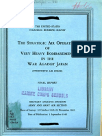 USSBS Report 66, The Strategic Air Operations of Very Heavy Bombardment in the War Against Japan (Twentieth Air Force)
