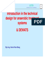 MANG ny Introdution in the technical Design for anarerobic Treatment Systems & DEWATS