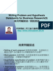 Writing Problem and Hypothesis Statements for Business Research(9)