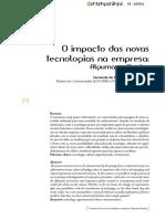 o impacto das novas tecnologias