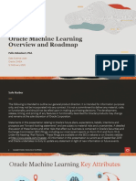 Oracle MAchine Learning Overview and Roadmap