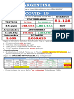 COVID ARGENTINA del 20 FEBRERO  2021