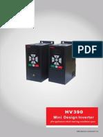 Catálogo de convertidores de frecuencia de la serie HV390