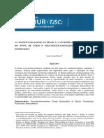 O Constitucionalismo No Brasil e a Necessidade de Insurgencia Lenio