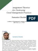 Ghoshal Bad Management Theories