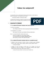 subjonctif valeur