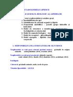Fiziopatologie - DISMETABOLISMELE LIPIDICE