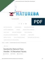 Sanduíche Natural Para Vender_ 10 Receitas Fáceis - Receita Natureba