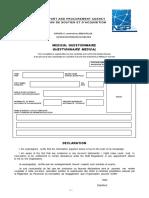 Medical Questionnaire - Nspa