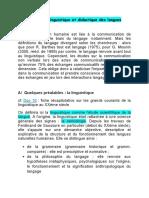 La théorie linguistique et didactique des langues