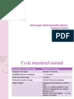 Hémorragies dysfonctionnelles utérines - Copie