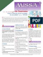 A Missa - Ano B - Nº 21 - 3º Domingo Da Quaresma - 07.03.21