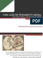 PARA ALÉM DO PENSAMENTO ABISSAL
