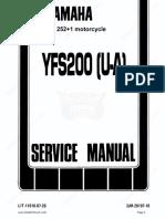 Yamaha Blaster Yfs200 Service Manual