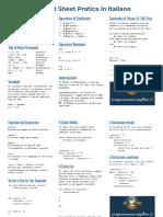 Python Beginners CheatSheet in Italiano - ProgrammareInPython