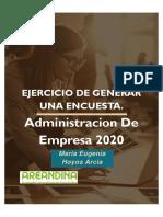EJERCICIO DE ENCUESTA EJE 3 MERCADOS