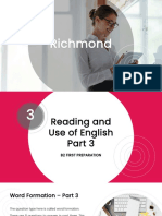Session 7 - B2 First Reading  Use of English Part 3