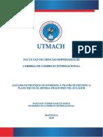 Análisis de Procesos de Inversión a Través de Deposito a Plazo Fijo en El Sistema Financiero Del Ecuador