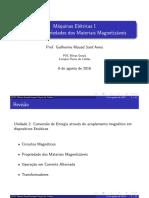 ME1 - Slides Aula 04 - Materiais Magnetizaveis