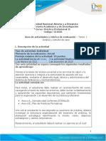 Guía de actividades y rúbrica de evaluación - Unidad 1 - Tarea 1 - Análisis y estudio de caso (1)