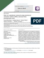 Datos sobre la eliminación de cefalexina utilizando carbón activado en polvo (PPAC) derivado de la cáscara de granada