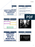 LEARNING AND FUN - WHAT A BEAUTIFUL COMBINATION - PDF from Slides