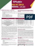 Sorteo Predial Puebla 2021