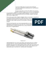 Existem vários tipos de conectores de fibra óptica