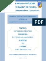 PAE PACIENTE CIRCUNSICION DE PEDIATRIA 701 JANET PACHECO LARA