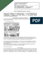 Atividade DE LÍNGUA PORTUGUESA 2a série