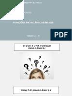 Funções  inorgânicas (Bases)