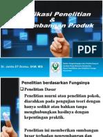 Klasifikasi Penelitian & Pengembangan Produk