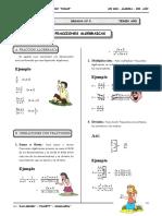 III BIM - 3er. Año - ALG - Guía 2 - Fracciones Algebraicas