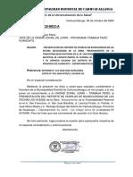 OFICIO N° 098-2020-MDC.