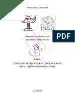 Actividades, Curso Técnicas de Intervención en Psicoterapia Infanto Juvenil