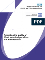 Promoting the Quality of Life of Looked-After Children and Young People