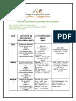 Plan de activitati Grupa Mare 12.10-16.10.2020