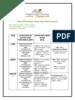Plan de activitati Grupa Mare 21-25.09.2020